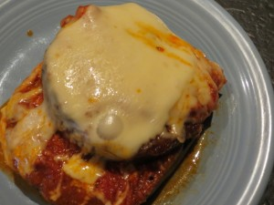 Eggplant Parmesan/Parmagiana (depending on how Italian you are)