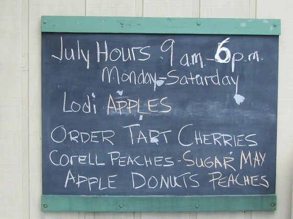 apple hill cherries order sign small