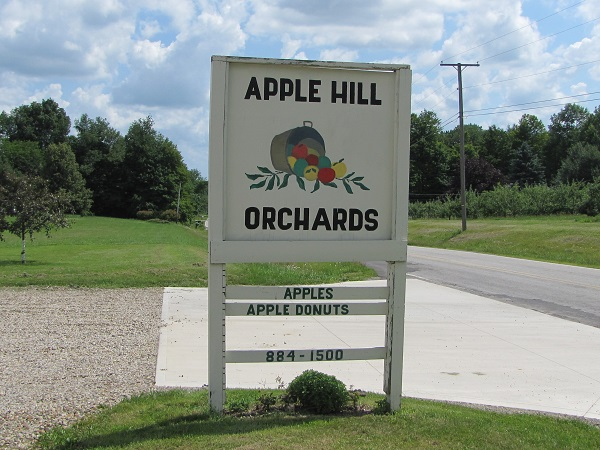 apple hill sign small