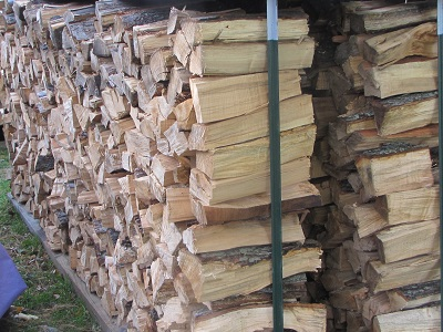 firewood stacks small